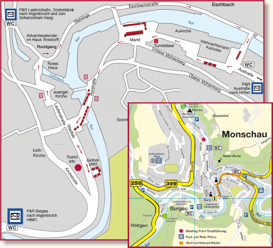 Eifel Karte Pdf.Park Ride Stadt Monschau